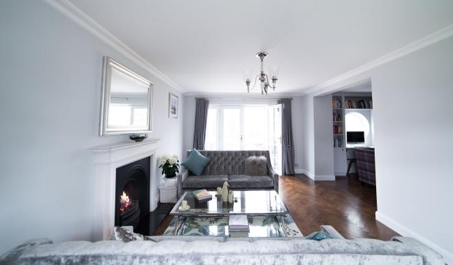 Case Study Creating A Modern Elegant Multi Functional Living Room
