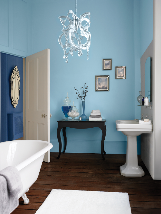 Glamour Bathroom Azure Blue 4